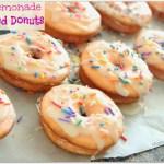 Pink Lemonade Sprinkled Donuts