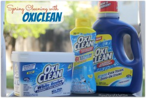 Spring Cleaning with OxiClean #MC