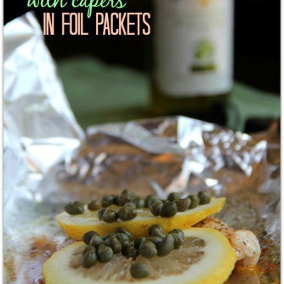 Lemon Chicken with Capers in Foil Packets