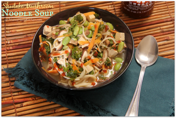 Shiitake Mushroom Noodle Soup PLUS the Final Week of the #MushroomMakeover AD