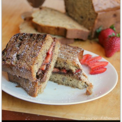 Banana Bread Dessert Panini {GIVEAWAY CLOSED}