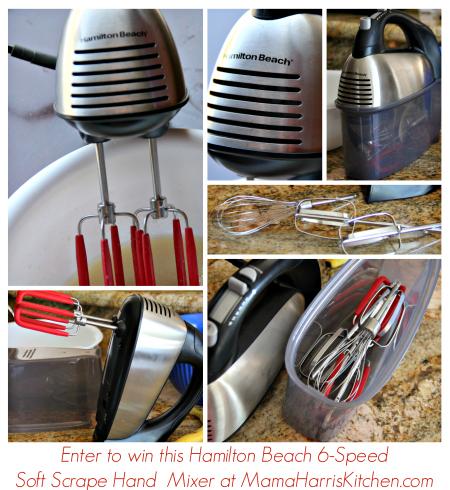 hamilton beach 6 speed soft scrape hand mixer giveaway