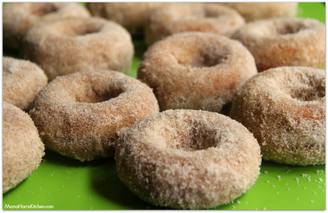 Baked Spice Cake Doughnuts made with olive oil