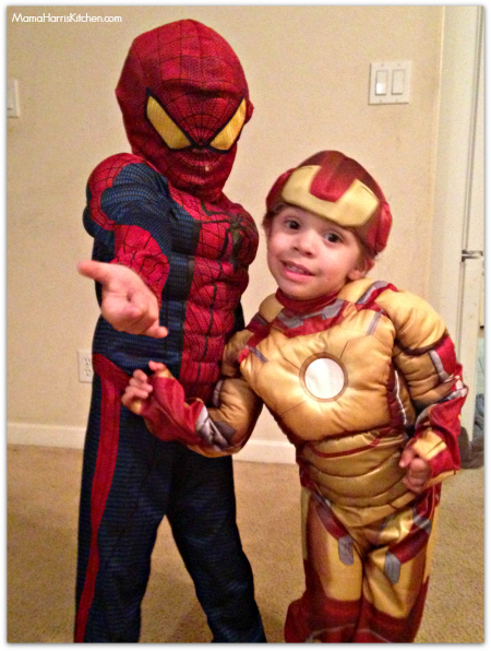 Superhero Spiderman and Iron Man Youth costume