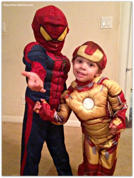 Superhero Spiderman and Iron Man Youth costume