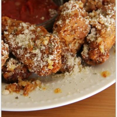 Buttery Garlic Parmesan Wings