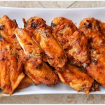 Peach Barbecue Baked Chicken Wings