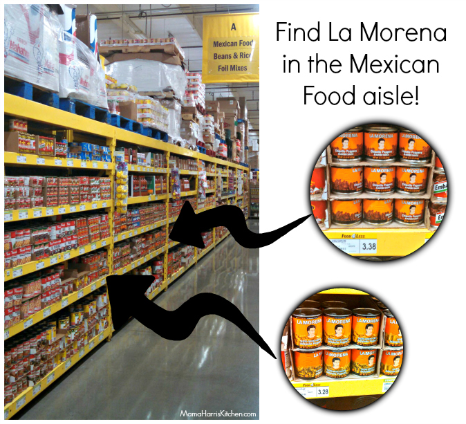 La Morena products can be found in the Mexican Food aisle