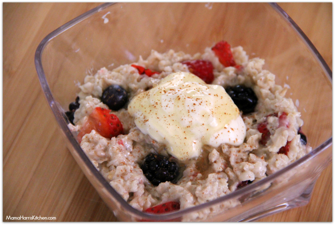 mixed berry oatmeal with Driscoll's Berries #BerriesNOats - Mama Harris' Kitchen