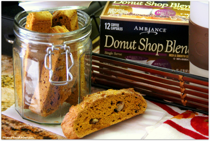Pumpkin Snickerdoodle Biscotti with a Café Cocoa #ChooseSmart #shop #cbias - Mama Harris' Kitchen