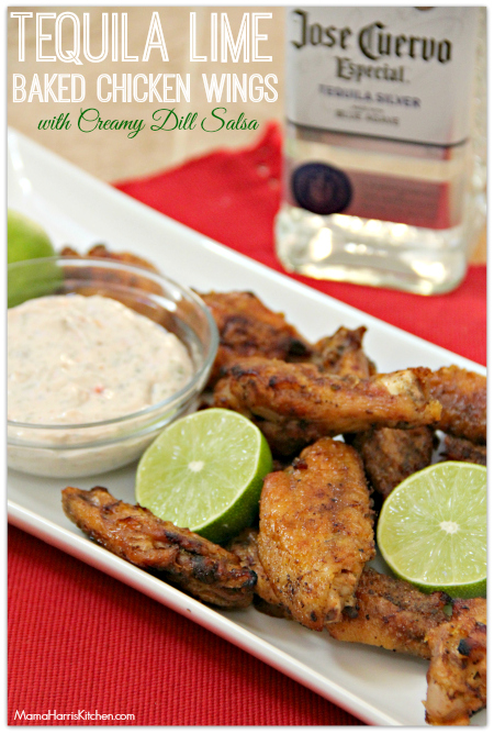 tequila lime baked chicken wings #ChicksWingIt #WingItWednesday - Mama Harris' Kitchen