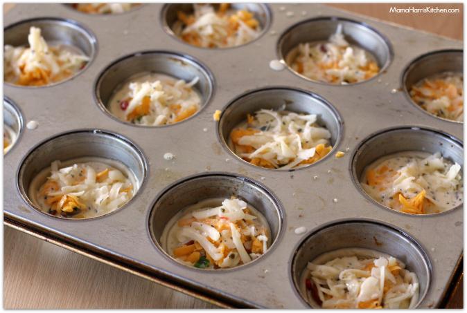 mini breakfast quiche with hormel pepperoni #PepItUp #ad - Mama Harris' Kitchen