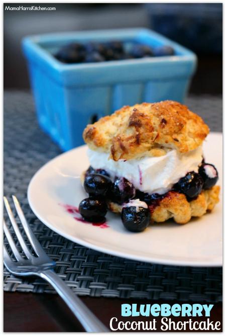 Blueberry Coconut Shortcake #LittleChanges #IC #ad - Mama Harris' Kitchen