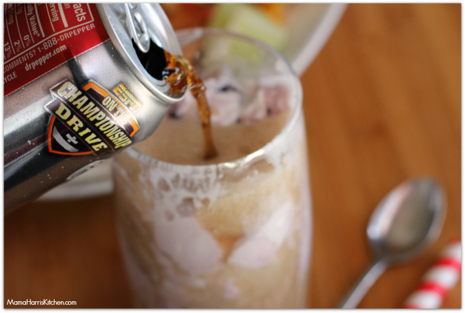 Dr Pepper Float #PassThePepper #ad #cbias - Mama Harris' Kitchen