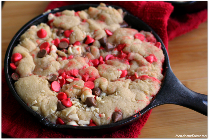 Valentine's Day Cherry Chip Pizookie for Two - Mama Harris' Kitchen