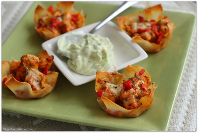 Chicken Taco Wonton Cups #WeeknightHero #ad #cbias - Mama Harris' Kitchen