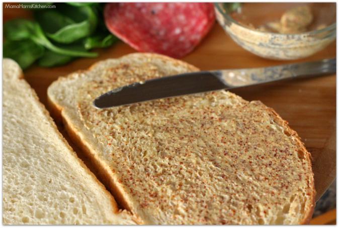 salami veggie grilled cheese sandwich #KGgrassfed #dublinerlove | Mama Harris' Kitchen