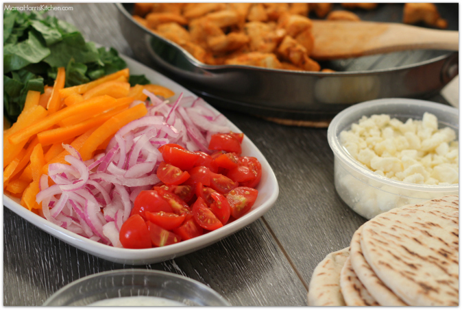 Easy Chicken Gyros with Tzatziki Sauce #FosterFarmsFresh AD | Mama Harris' Kitchen