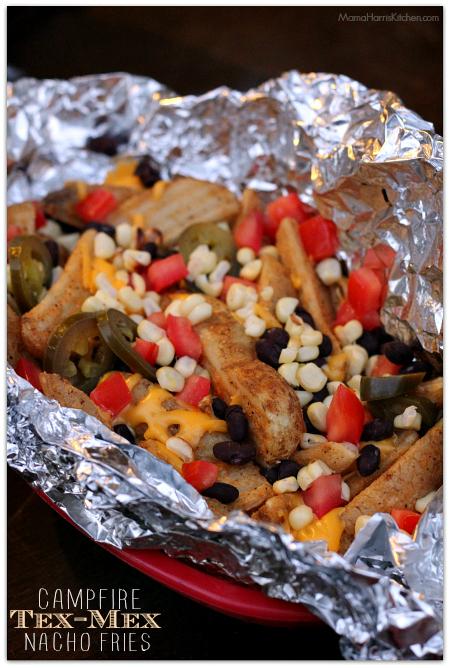 campfire tex-mex nacho fries with velveeta #liquidgold5 #ad | Mama Harris' Kitchen