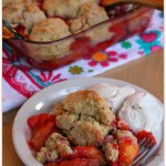 Nectarine and Plum Cobbler