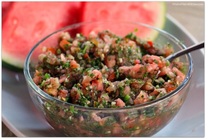 Chili Lime Grilled Pork with Watermelon Pico de Gallo (spon) #GrillPork | Mama Harris' Kitchen
