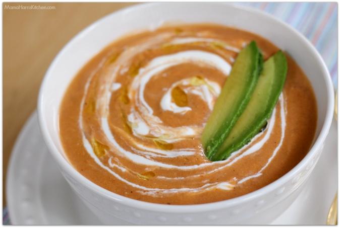 spicy gazpacho - Mama Harris' Kitchen