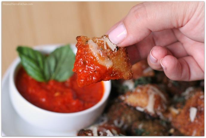 Fried Ravioli with Mezzetta Marinara Sauce #FallForFlavor (ad) | Mama Harris' Kitchen