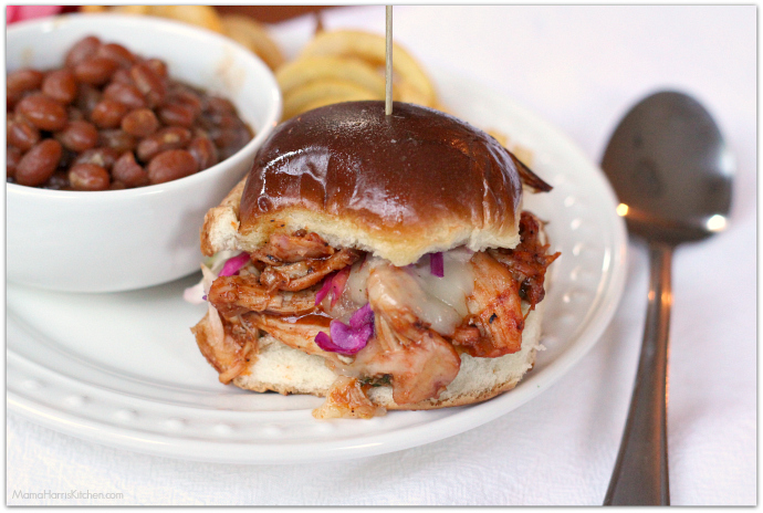 BBQ Chicken Sliders #LegendaryTailgate AD #cbias | Mama Harris' Kitchen