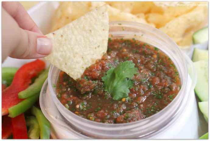 Easy Restaurant Style Salsa #TD4Rubbermaid #IC (ad) | Mama Harris' Kitchen