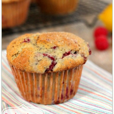 Jumbo Raspberry Lemon Poppy Seed Muffins
