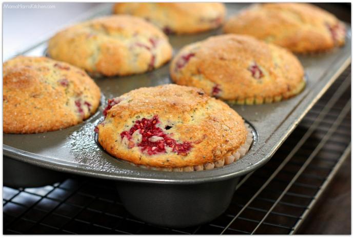 Jumbo Raspberry Lemon Poppy Seed Muffins