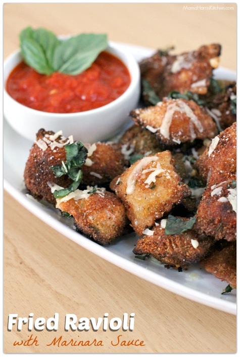 Thanksgiving for the Vegetarian - 12 Recipe Ideas - fried ravioli   Mama Harris' Kitchen