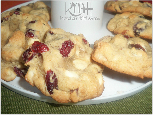 White Chocolate Cranberry Nut Cookies - 15+ Cookie Recipes from Mama Harris' Kitchen | Mama Harris' Kitchen
