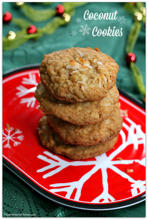 Coconut Cookies - 15+ Cookie Recipes from Mama Harris' Kitchen | Mama Harris' Kitchen