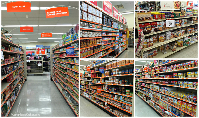 Food aisles at Big Lots Holiday Cooking #BIGSeason #BigLots AD #cbias | Mama Harris' Kitchen