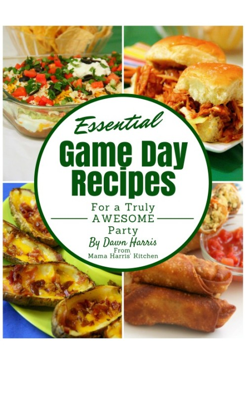Get your home game day ready giveaway mama harris kitchen ebook game day recipes cover page 001 fandeluxe Choice Image