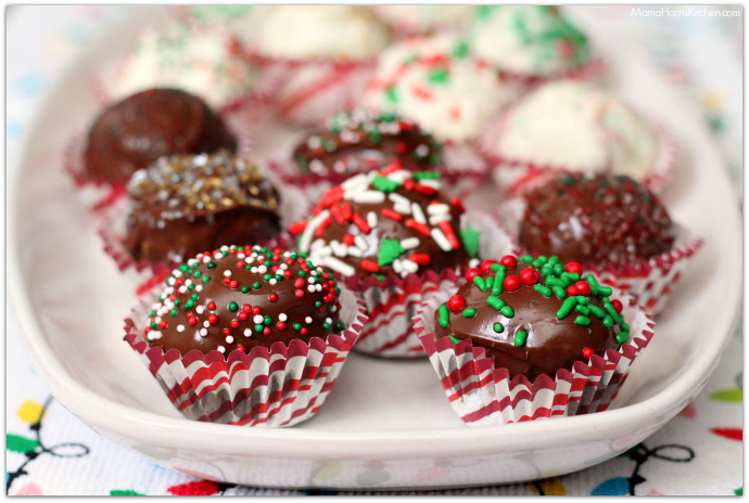 Holiday Truffles with Post Fruity and Cocoa Pebbles | Mama Harris' Kitchen