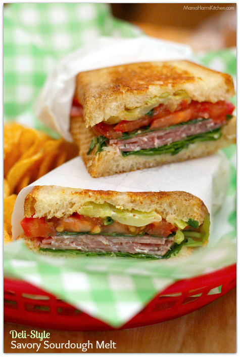 Deli-Style Savory Sourdough Melt with San Luis Sourdough Bread AD | Mama Harris' Kitchen