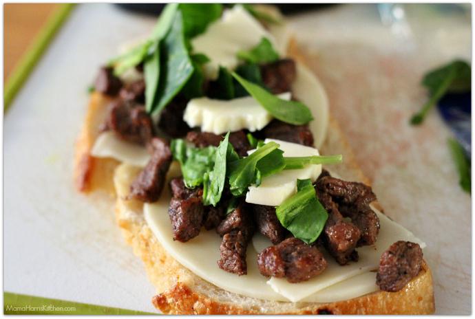 Three Cheese Steak and Mushroom Panini with San Luis Sourdough Bread AD | Mama Harris' Kitchen