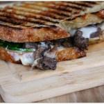 Three Cheese Steak and Mushroom Panini