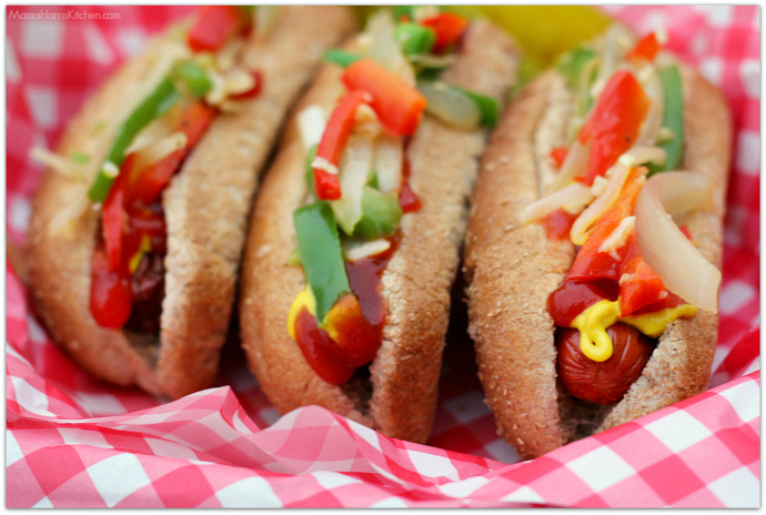 Street Style Grilled Hot Dogs with Hebrew National #HebrewNationalSummer #ad   Mama Harris' Kitchen