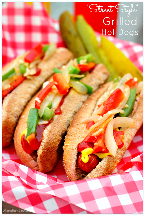 Street Style Grilled Hot Dogs with Hebrew National #HebrewNationalSummer #ad | Mama Harris' Kitchen