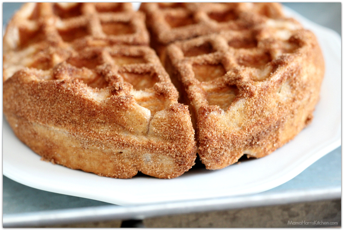 Churro Waffles Breakfast in Bed #SprinklesAndMAYhem | Mama Harris' Kitchen