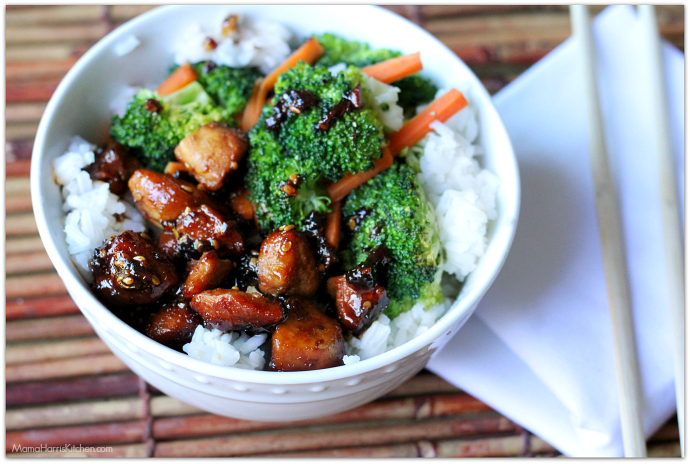 Weeknight Dinner Idea: Quick & Easy Chicken Teriyaki Bowl   Mama Harris' Kitchen