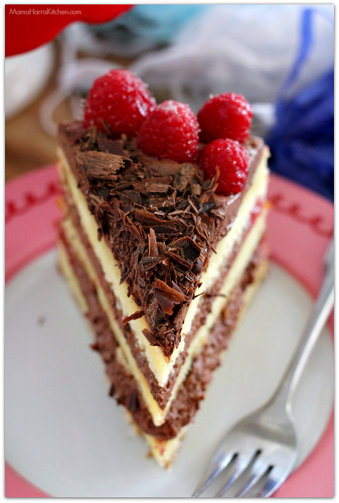 Raspberry Chocolate Mousse Cake #SprinklesandMAYhem | Mama Harris' Kitchen