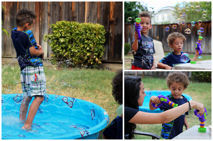 Sweet Backyard Fun in the Sun with Smucker's and Blue Bunny Ice Cream! #TopYourSummer #SoHoppinGood AD | Mama Harris' Kitchen