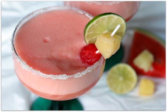 Watermelon Pineapple Margaritas | Mama Harris' Kitchen