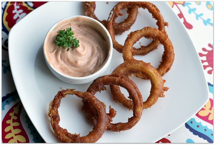 Beer Battered Onion Rings | Mama Harris' Kitchen
