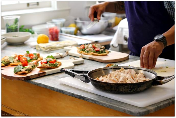 Sheet Pan Dinner: Chicken Asparagus Mushroom Tomatoes #NewComfortFood AD | Mama Harris' Kitchen