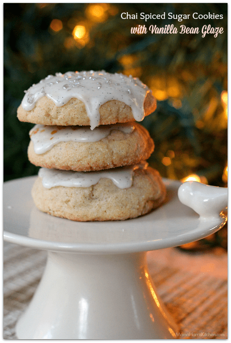 Chai Spiced Sugar Cookies with Vanilla Bean Glaze | Mama ...